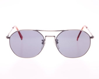 51084d72d554 Versus Versace Vintage 80s highly detailed (matsuda style) gunmetal aviator  sunglasses