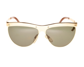 bc713d279132aa Vintage Fiorucci by Metalflex golden metal cateye sunglasses made in Italy  in the 80s