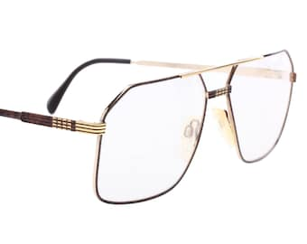 86acde7ce0a Neostyle haute couture Office 44 classy squared black   gold aviator  eyeglasses frames made in Germany