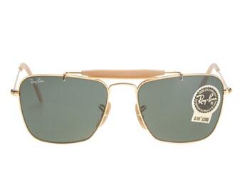 3f398bcbe89 Rayban Bausch   Lomb Caravan Outdoorsman rare 24k gold vintage sunglasses  with Og case