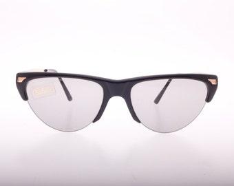 b280f72fbb NOS Vintage 60s Safilo Cateye browline clubmaster eyeglasses handmade in  Italy