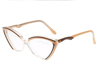 1d068d68824 Karl Lagerfeld stunning cateye clear multicolor eyeglasses frames