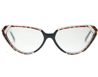 a280fcd26b2 Karl Lagerfeld stunning cateye clear marble effect tricolor eyeglasses  frames