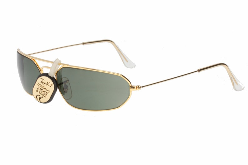 373ef2e40a5 Rayban Bausch   Lomb W1959 thin wrap gold plated sunglasses