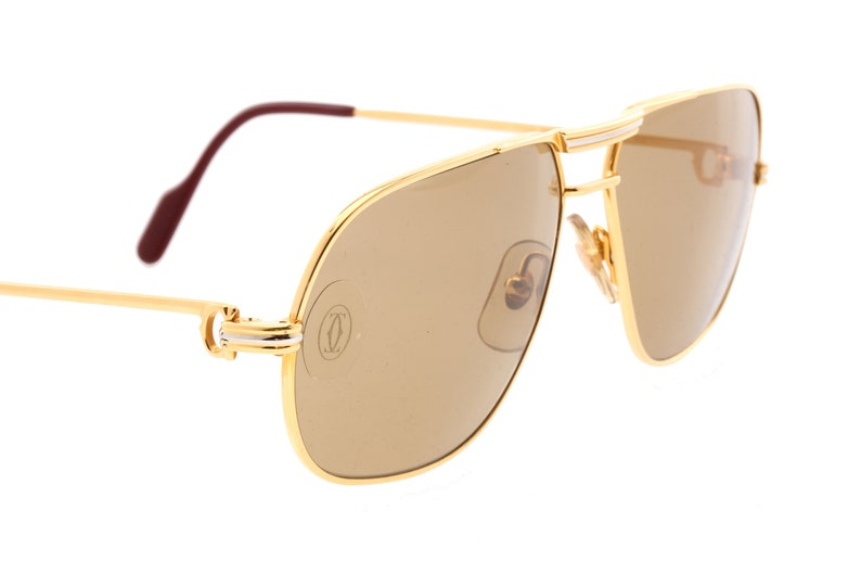 865208dc11ed Cartier Tank aviator sunglasses 24k gold plated louis decor