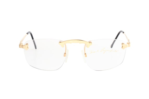 12e1952d008 Karl Lagerfeld L4502 80 square eyeglasses rimless golden