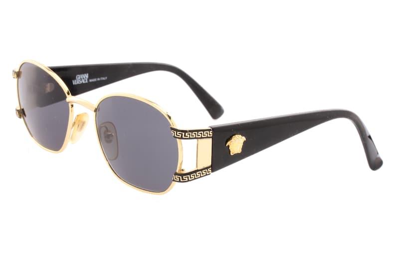 d128d587ee5d Gianni Versace S-61 sunglasses black gold oversized square