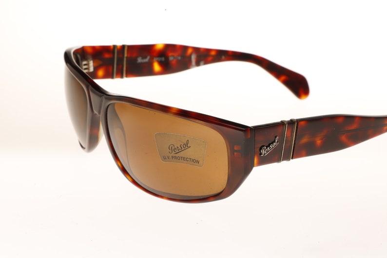 09135551a4 PERSOL Ratti EF013 squared wrap demi amber sunglasses