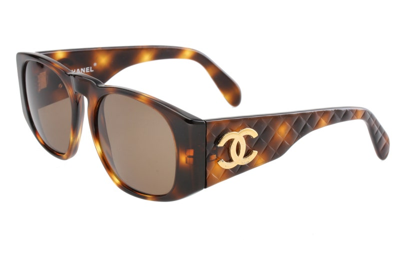 ac73a1b36fac Chanel 0003 oversized square sunglasses tortoise cello