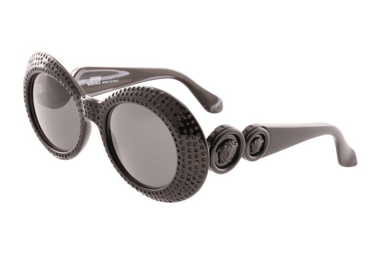 8e5502f17621a Gianni Versace 418 E rarest total black sunglasses frames