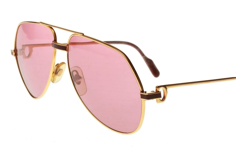 6daaef9e98 Cartier Santos Vendome laque vintage 1980 golden aviator sunglasses