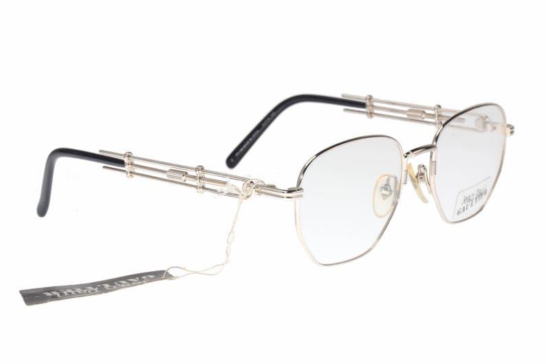 8f97fc672b4a8 Jean Paul Gaultier 55-4174 Vintage 80s pantos steampunk silver
