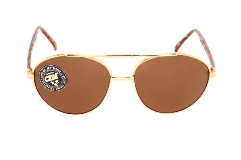 10599c4f9b61 Cebé round gold aviator sunglasses made in france with fine