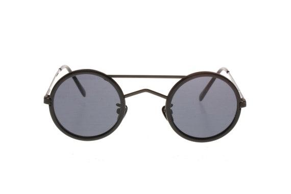 7fc1f58db09e Incognito vintage round steampunk sunglasses made in Italy