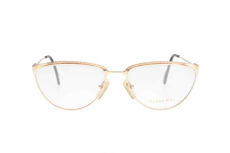 e8c21fae4f7a1 Tiffany T-47 23k gold plated luxury cateye ladies eyeglasses frames