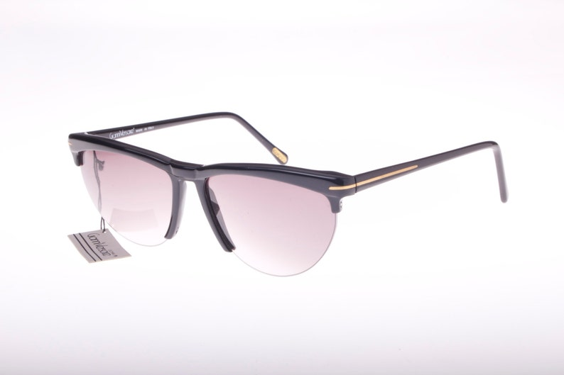 4b3eea3abed Gianni Versace rare Mod. 391 black cateye rimless clubmasters