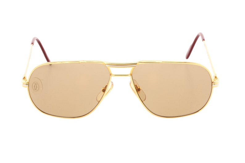 7b5eae1212 Cartier Tank aviator sunglasses 24k gold plated louis decor