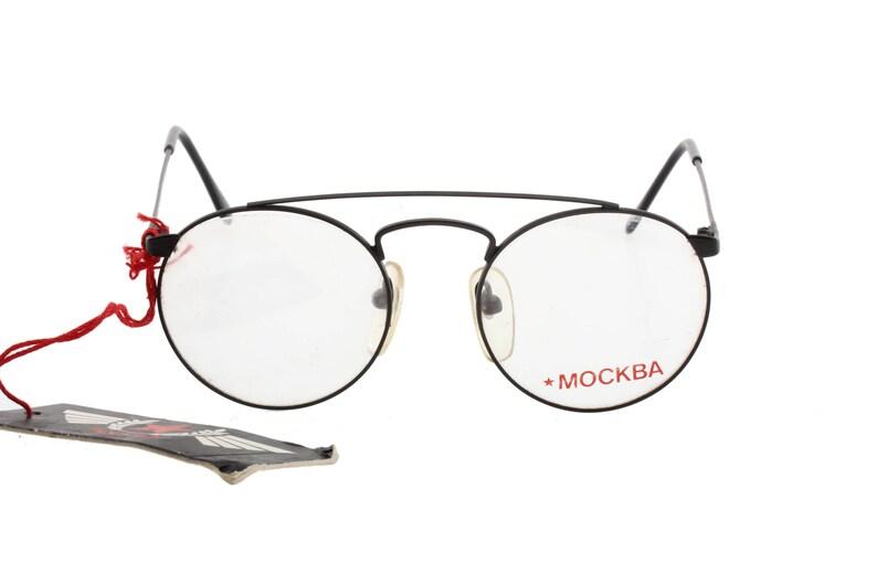 7b35ca013ce3 Mockba by Trenti vintage round eyeglasses matte black light