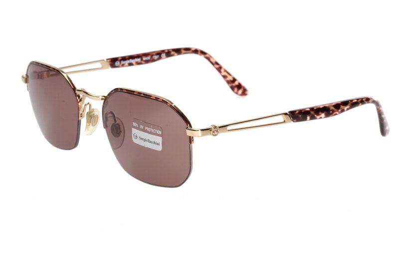 30bddfb28d38 Sergio Tacchini 1012 S 90s square sunglasses slim golden