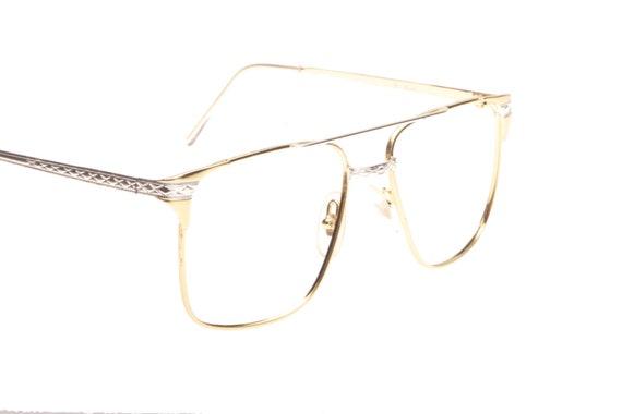 B. Russo\' square glasses frames 1980s hip carved metal | Etsy