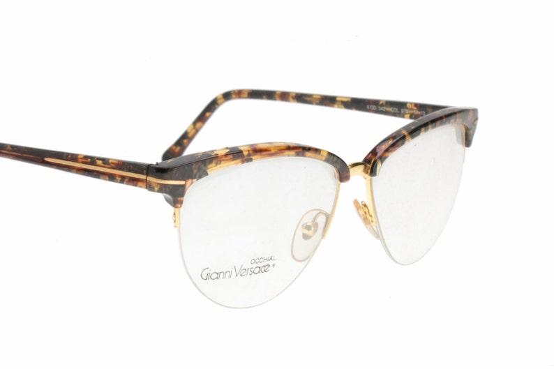 7fd85088be7b Gianni Versace vintage rimless cateye clubmaster eyeglasses