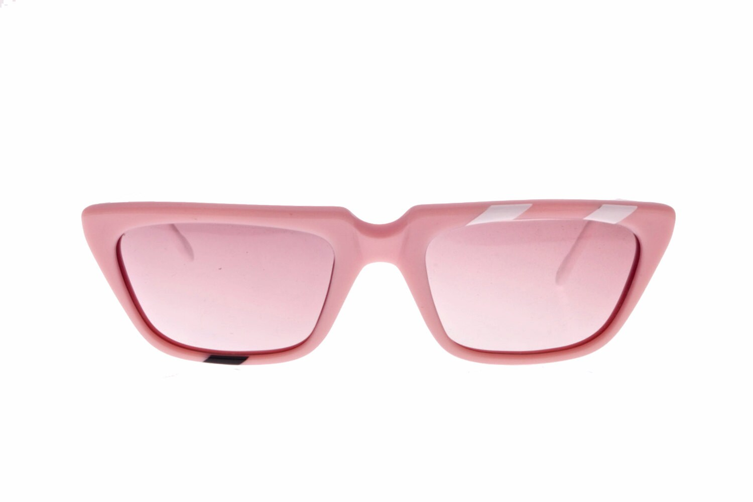 Pink panther colour square retro ladies sunglasses with black