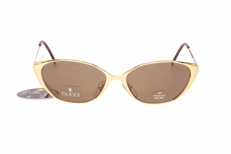 80bc34dac3f74 Gucci GG2267 classy golden metal cateye sunglasses hand made