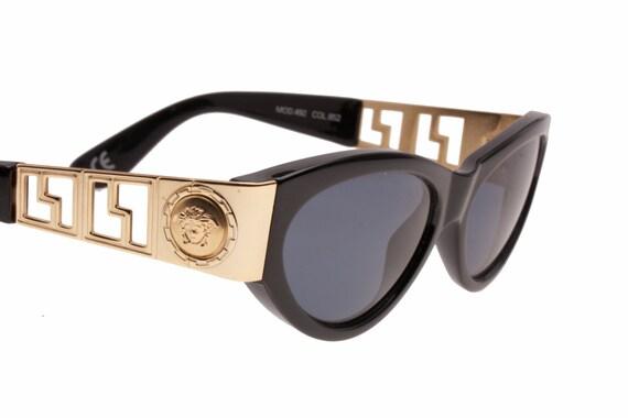 889cac8e074 Gianni Versace vintage Medusa sunglasses mod.492 black cateye