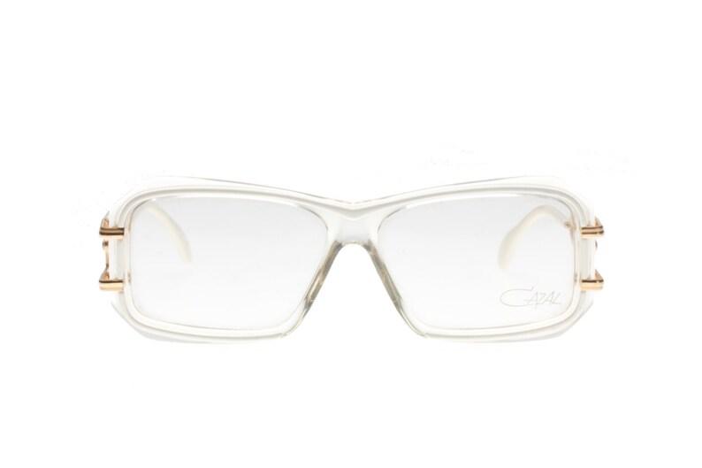 04d76c18e255 Cazal mod. 173 vintage clear   white squared wrap sunglasses