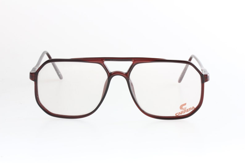 c7b3993db919 Carrera 5347 80s square aviator eyeglasses double bridge cello