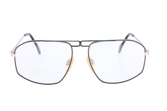 Puma MP7 NOS vintage brown/blue/gold aviator eyeglasses frames | Etsy