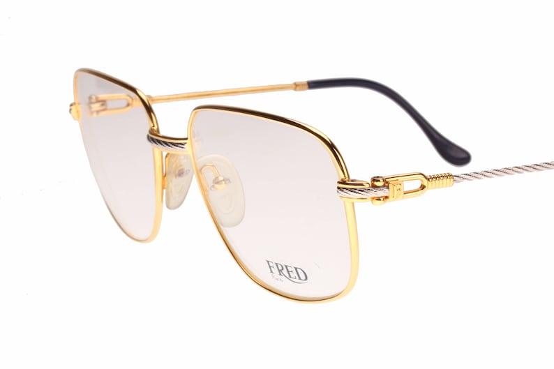 a8e3472787 Fred Paris Zephir rare luxury squared vintage 24K Gold