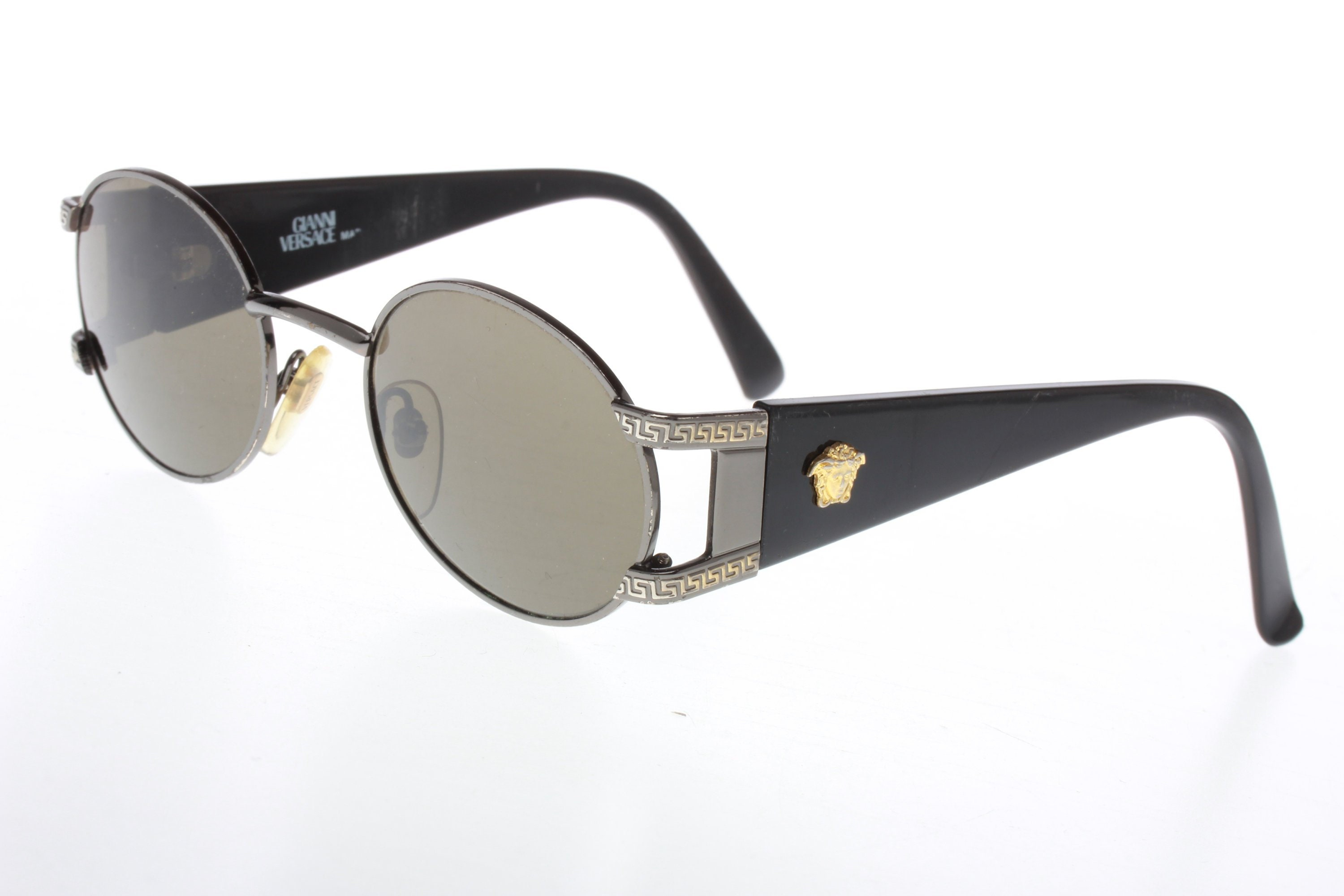 2614ba9d1f9 Gianni Versace S-60 vintage sunglasses gunmetal frames with