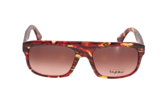 e90519a85c Byblos By013 vintage 90s square sunglasses dark brown and red