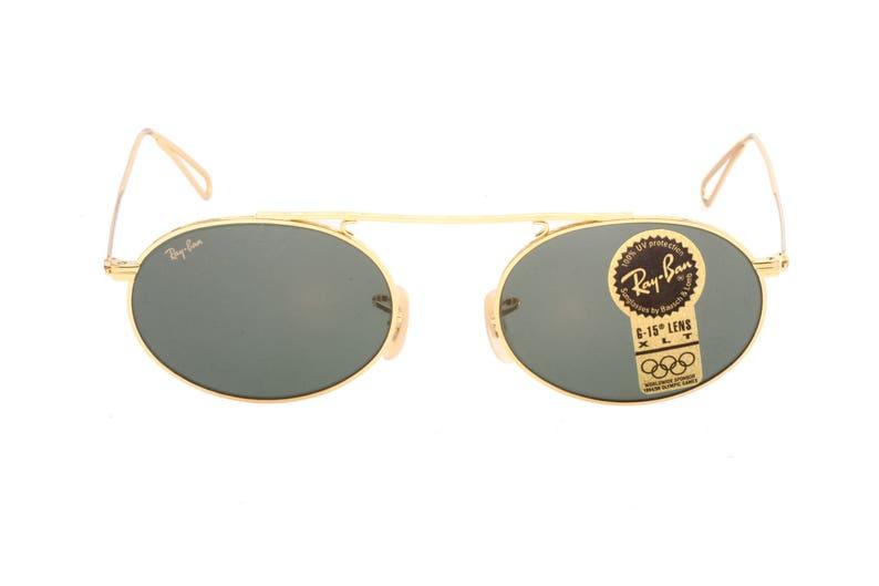 14eec46b415 Rayban Bausch   Lomb vintage oval sunglasses golden metal