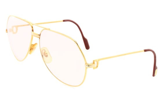 1cfb5b03dc48 Cartier Santos Louis Decor eyeglasses 24k gold plated frames