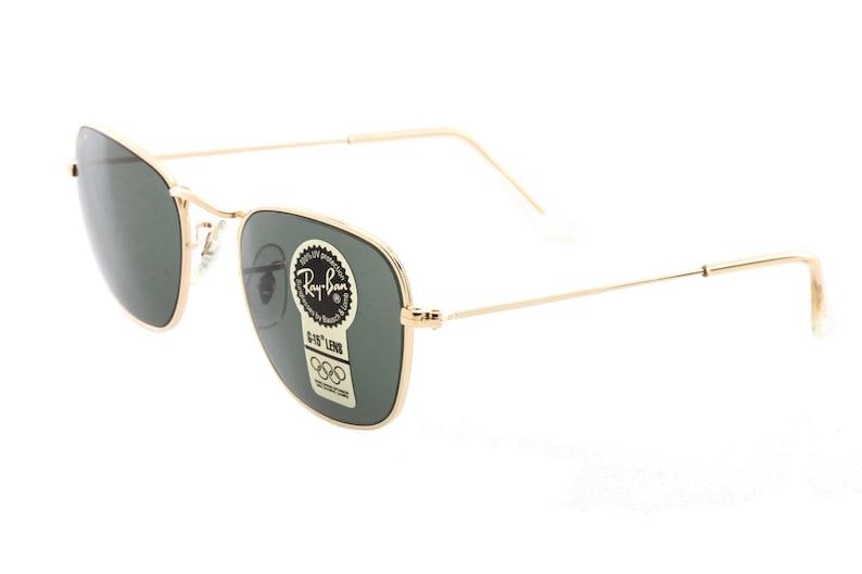 dfbfa4eaea Rayban B L W1343 vintage sunglasses square gold filled frames