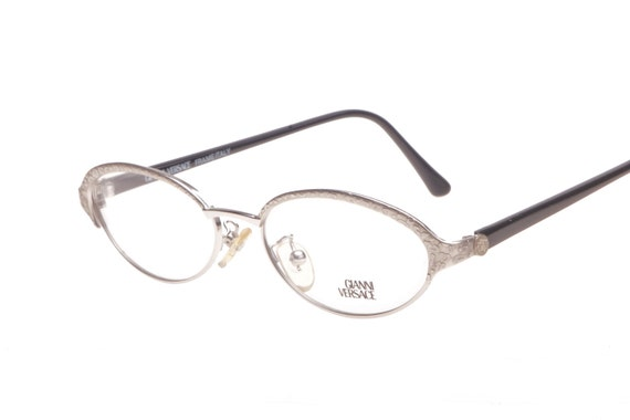 1f4acf3e2c0c Gianni Versace Medusa ladies oval eyeglasses with animalier