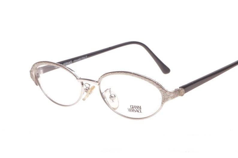 3feb0def30 Gianni Versace Medusa ladies oval eyeglasses with animalier