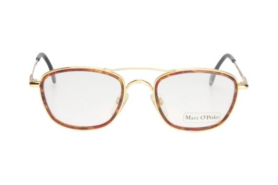 Ruf zuerst ausgereifte Technologien hochwertiges Design Marc O' Polo Vintage golden & tortoise-havana double rimmed geeky aviator  sunglasses / eyeglasses frames, NOS 1980s