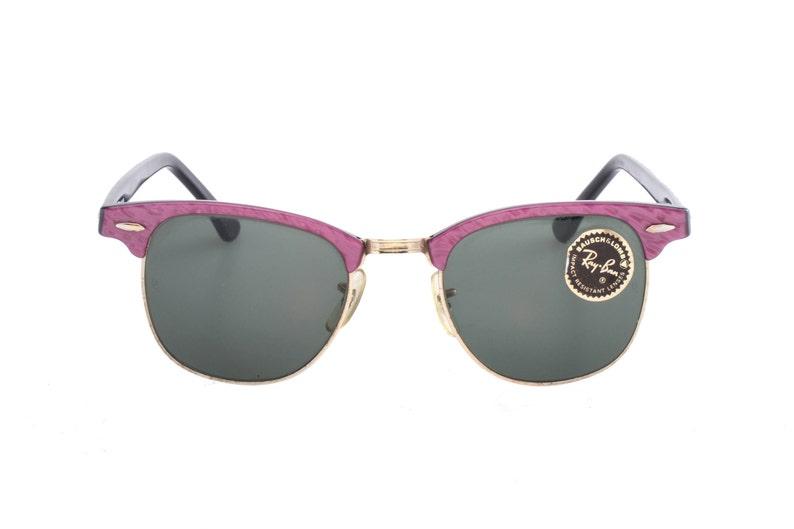 b82cfa17ff67 Rayban B L W0376 purple   black rare colour clubmaster by