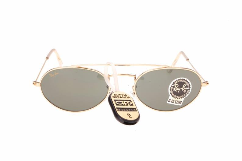 3f3341b232 Rayban B L W 1534 sunglasses oval golden metal frames with