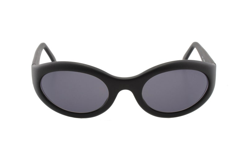 d85065984c96 Chanel 5017 90s oval wrap sunglasses matte black cello