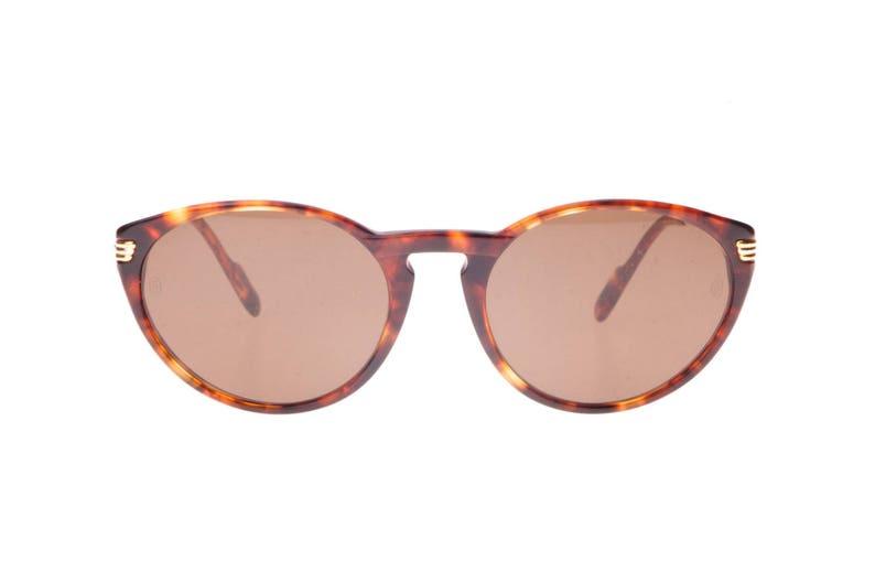 63d494bb4811 Cartier Paris Jaspe brown tortoise cateye sunglasses for
