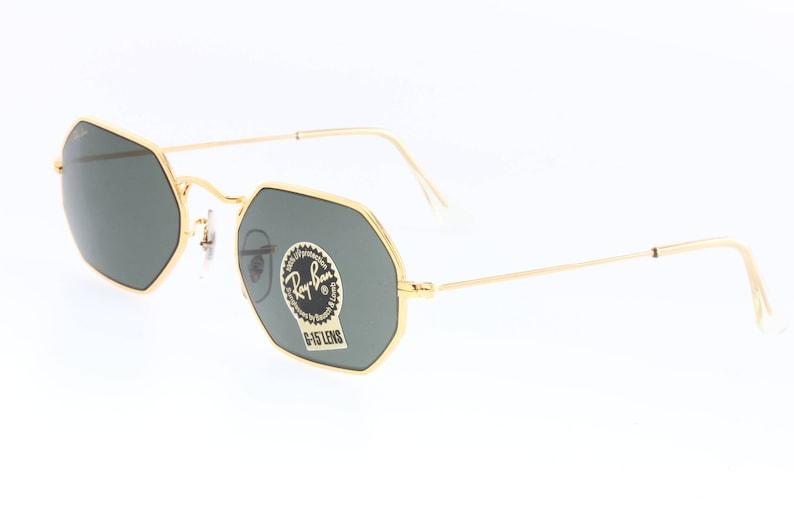 840deb1b4b Rayban B L W1535 sunglasses rectangular-octagonal gold