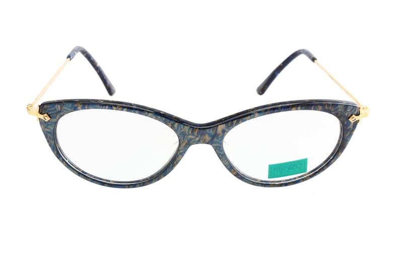 c7d7c2aca1b Kenzo Venise 80s cateye eyeglasses speckled blue grey bronze