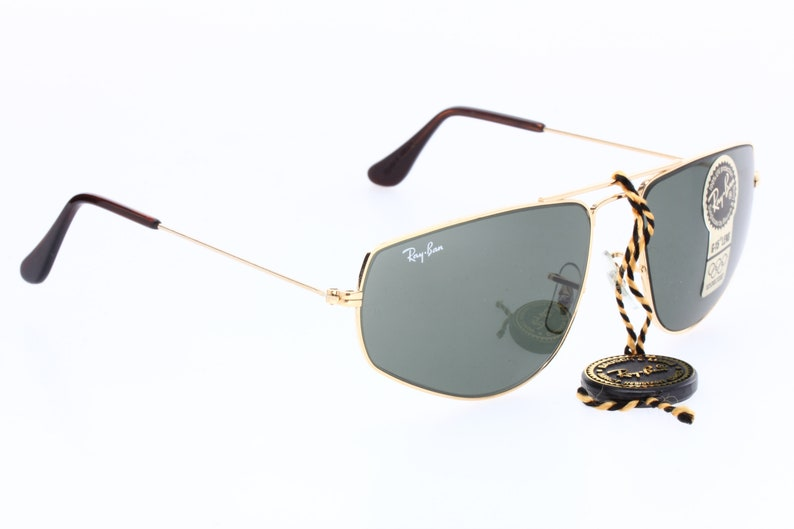 e033f49ba1 Ray-Ban B L W1083 80s aviator sunglasses golden metal frames