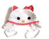 ähnliche Artikel Wie Hallo Kitty Häkeln Hut Hello Kitty Mütze