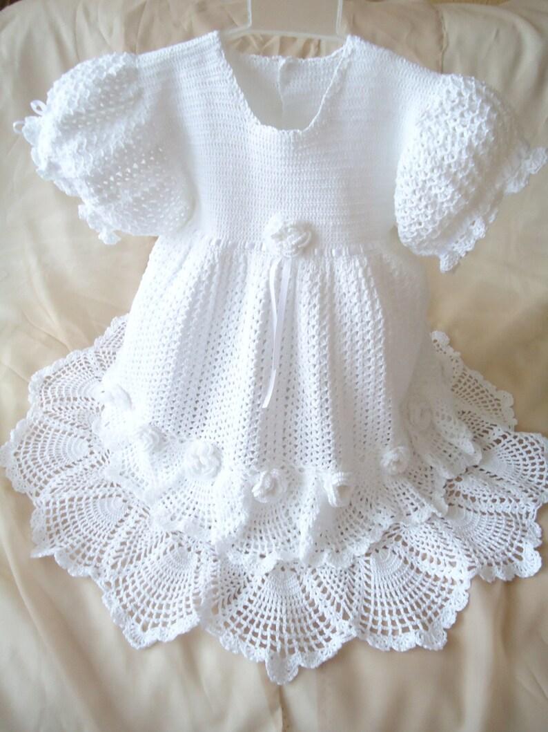 Uncinetto Vestito Bambina Vestito Alluncinetto Bianco Etsy