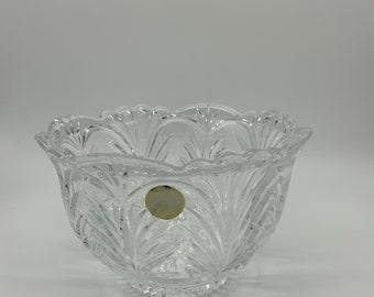 Heavy Vintage Crystal Bowl made in Poland